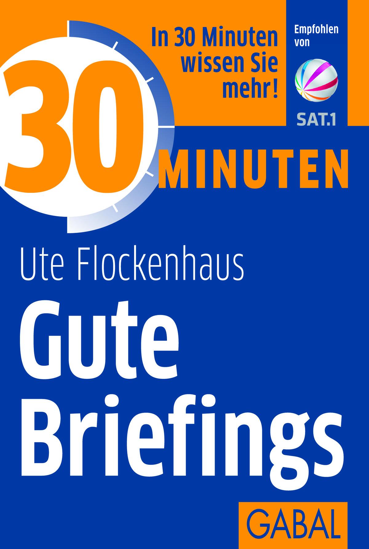 30 Minuten Gute Briefings Ute Flockenhaus Buch Gabal Verlag